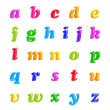 ABC collection. Alphabet 3D Font creative. Isolated Letters. — Stockfoto #23052914