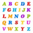 ABC collection. Alphabet 3D Font creative. Isolated Letters. — Foto Stock