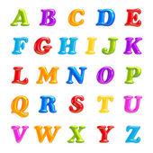 Abc 集合。字母表 3d 字体创意。孤立的信件. — 图库照片