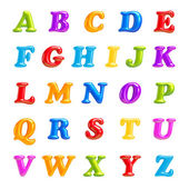 ABC collection. Alphabet 3D Font creative. Isolated Letters. — Stock Photo