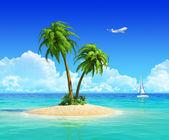 Concept pour les voyages, vacances, voyage, vacances, resort et reste. — Photo