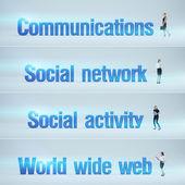 Communications, Social network, Social activity, World wide web — Stock Photo