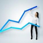 Financial report & statistics. Business success concept. — Stock Photo