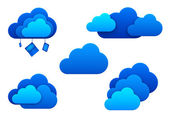 Clouds icons. Isolated. Cloud computing idea concept. — Stock Photo