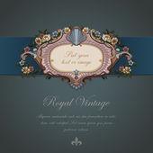 Gift Card Vintage design. Floral ornament. Retro background Wallpaper. — Stock Vector