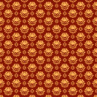 Floral pattern. Seamless texture. Flourish background — Векторная иллюстрация