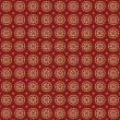 Stars seamless retro pattern. Red background abstract. Vector. — Stock Vector