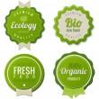 Eco Vintage Labels Bio template set. Ecology theme. Retro logo template design. Extra High quality. 3D Vector. — Stock Vector