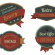 Vintage Labels template collection. Luxury Retro logo template. Extra High quality. Old design 3D Vector. — Stock Vector