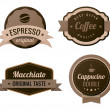 Coffee Vintage Labels such a logo template collection. Luxury Retro design. Vector icons. — Stock Vector #26126495