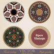 Vintage circle Frames and Borders design elements collection. Folklore vector Floral ornament. High Detailed. — Stock Vector