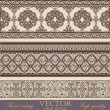 Vintage Border design elements collection. Retro Floral ornament. High Detailed. Super Quality Vector.  — Stock Vector