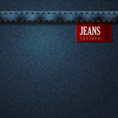 Jeans Denim texture pattern background. Vector — Vettoriale Stock