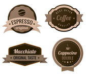 Coffee Vintage Labels such a logo template collection. Luxury Retro design. Vector icons. — Stock Vector