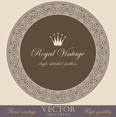 Vintage circle Border design elements collection. Vector Floral ornament. Super High Detailed. Luxury decor. — Stock Vector