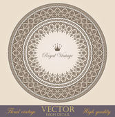Vintage circle Frames design elements collection. Vector Floral ornament. Super High Detailed. Luxury. — Stock Vector