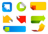 Arrows set. Abstract icons. — Stock Vector