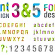 Font design. Ribbon Alphabet. vector. Usage: for logo, title, identity etc. — Stock Vector