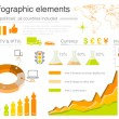 Infographics elements with icons For business and finance reports, statistics, diagram graph — Imagens vectoriais em stock