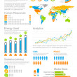 Human resources Infographics elements with icons. For business and finance reports, statistics, diagram graph  — 图库矢量图片