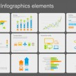 Infographics elements with icons.Multiuse! For business and finance reports, statistics, diagram graph  — Imagens vectoriais em stock