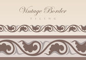 Vintage Floral tiling border. Retro design elements collection. Vector ornament. — Stock Vector