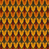 Vintage seamless pattern. Red and Orange wallpaper abstract. Vector background. — Stock Vector