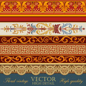 Vintage frame elements. Floral Ornament. Vector elements — Stock Vector