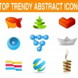 Business set of icons. Vector. New age of design Can be used as logo template — Stock Vector