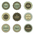 Stock Vector: Vintage Labels set. Sale, Membership, Luxury style. Retro design. High quality. Retro logo template. High detail vector.