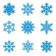 Royalty-Free Stock Immagine Vettoriale: Snowflakes icon collection. Vector shape.