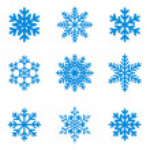 snöflingor ikon insamling. vektorform — Stockvektor