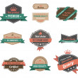 Vintage labels collection. Premium quality. Creative trendy design. Retro logo template high detail. InsigniVector. Editable. — Stock Vector #26500349
