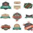 Vintage labels collection. Premium quality. Creative trendy design. Retro logo template high detail. Insignia Vector. Editable. — Stock Vector #26500349