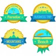 Stock Vector: Travel Adventures Logo templates. Vintage labels for vacation