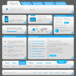 Web designers toolkit. Design elements collection. White Blue. Vector. Editable. — Stock Vector #26501549