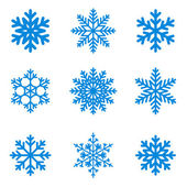 Snowflakes icon collection. Vector shape. — Stock Vector