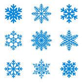 Snowflakes icon collection. Vector shape. — Stock Vector