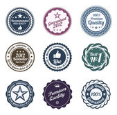 RETRO Design. Premium Vintage Labels. Trendy design — Stock Vector