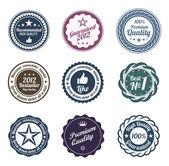 RETRO Design. Premium Vintage Labels. Trendy design — Stock Vector
