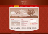 Website template for hotel, restaurant, beuty & spa salon etc. Vintage pattern background design. Editable. — Stock Vector
