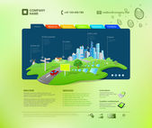 Website template. Infographics concept at the cap. Business promo. Vector. Editable. — Stock Vector