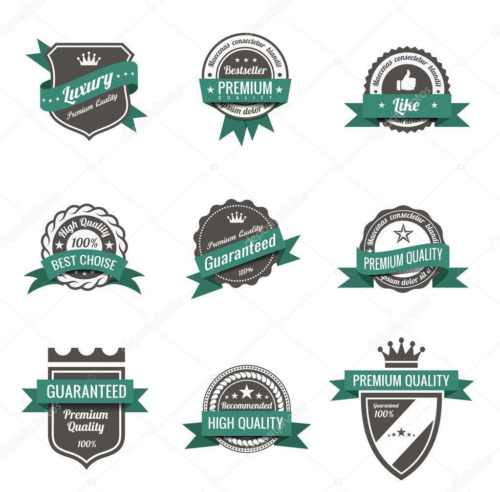 Vintage Labels set of trendy designs  Retro logo template High quality    Vintage Logo Template