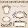 Royalty-Free Stock Vector Image: Vintage vector frames border. Retro wedding invitation template