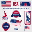 Vettoriale Stock : USA Independence day vector design template elements.