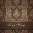 Vintage wallpaper design. Flourish background. Floral pattern. — Векторная иллюстрация
