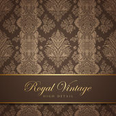 Vintage wallpaper design. Flourish background. Floral pattern. — 图库矢量图片