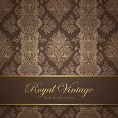 Vintage wallpaper ontwerp. floreren achtergrond. bloemmotief. — Stockvector