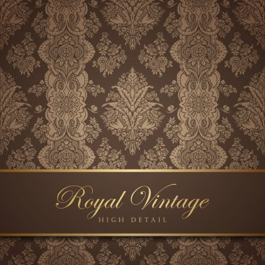 Vintage wallpaper design. Flourish background. Floral pattern.