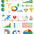 Sport Infographics. Statistics and analytics for business, finan — Stock Vector
